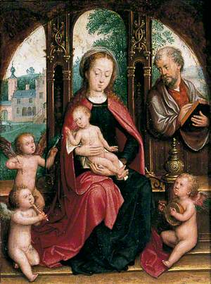 Virgin and Child with Joseph and Angels