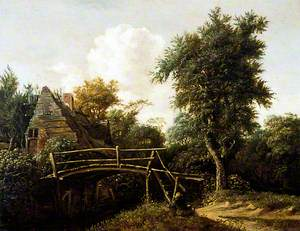 Landscape with Cottage and Bridge