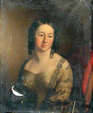 Portrait of an Unknown Woman in a Green Dress