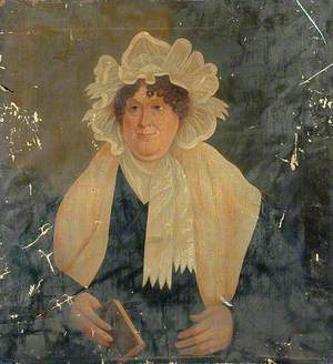 Portrait of an Unknown Woman Holding a Book