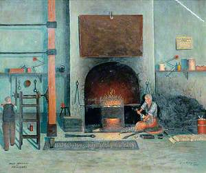 Interior with Workmen, 'Horn Openers and Pressers, 1908'