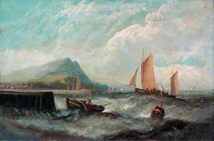 Seascape with Boats and a Harbour