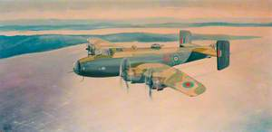 Halifax Mk111 HX333 NP-J of 158 Squadron Flight on Operation to Berlin
