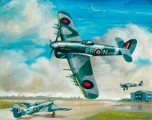 Hawker Typhoon IB, R8809, BR-N of 184 Squadron