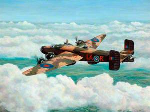 Halifax Mk111 LK-R of 578 Squadron