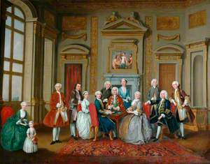 Lord Tylney and His Family and Friends at Wanstead House, Essex