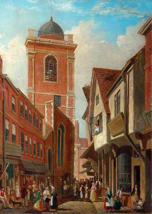 St Crux, York, Looking from the Shambles to Pavement