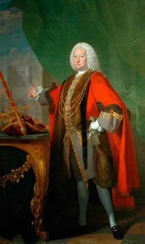 George Fox-Lane, Lord Bingley, as Lord Mayor of York in 1757