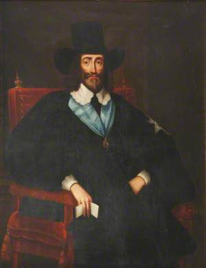 Charles I as He Sat at His Trial in Westminster Hall