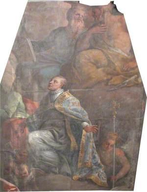 Old Chapel Reredos, Section 2 – Bishop (Chichele?) Kneeling