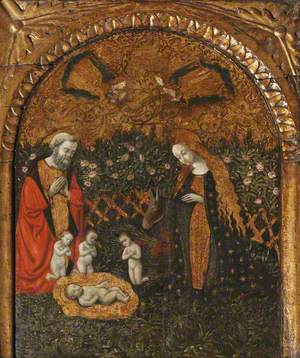 The Nativity Set in a Hortus Conclusus