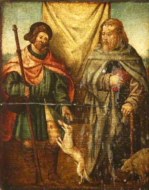 Scenes from the Life of Christ: Saint Anthony Abbot and Saint Roch