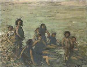 Children Bathing, Dieppe
