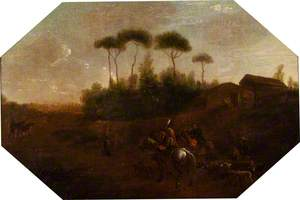 Landscape with a Huntsman in the Roman Campagna