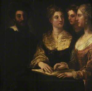 A Concert: Three Ladies Singing, a Gentleman on the Left