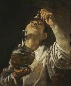 A Boy Drinking