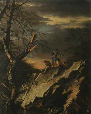 Rocky Landscape with Three Figures