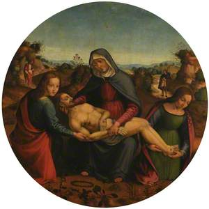 The Lamentation of Christ with Saint John and Saint Mary Magdalen