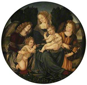 Madonna and Child with Saint John and Two Angels