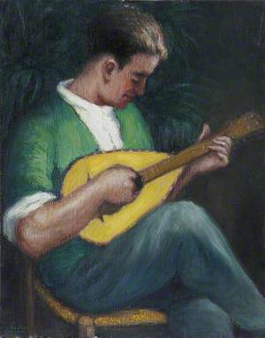 Man Playing a Lute