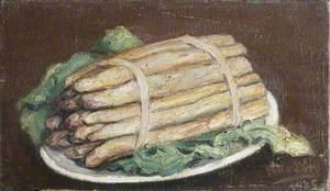 Still Life with Asparagus on a Plate