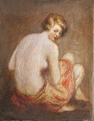 Nude with an Orange Towel