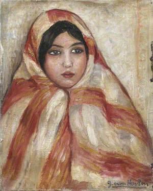 Portrait of a Lady in an Orange Sari