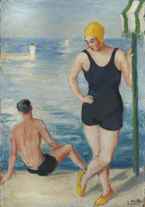 A Man and Woman in Swimming Costumes