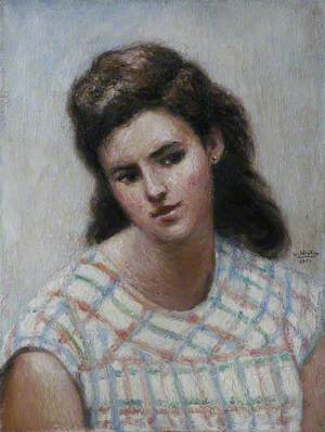 Portrait of a Girl in a Checked Dress