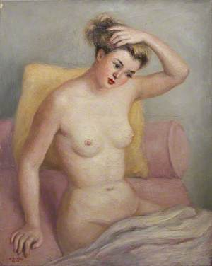 Nude on a Pink Chair