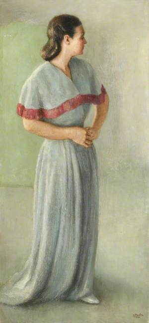 Portrait of a Lady in a Grey Evening Gown