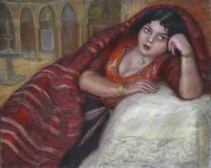 Tunisian Lady, Reclining