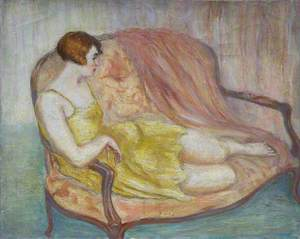Reclining Lady in Yellow