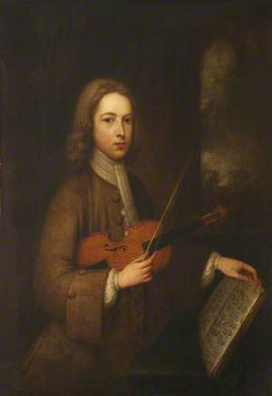 Portrait of a Young Man with a Violin