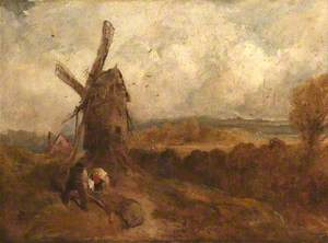 Woodcutters by a Windmill