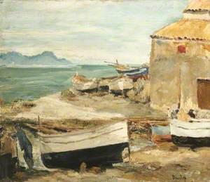 Boatsheds at St Tropez (?)