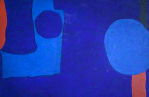 Two Blues with Vermilion and Black : May 1965