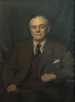 The Right Honourable L. S. Amery (1873–1955), CH, 1st Lord of the Admiralty (1922–1924), Secretary of State for the Colonies (1924–1929), for Dominion Affairs (1925–1929), and for India and Burma (1940–1945), Rhodes Trustee (1919–1955)