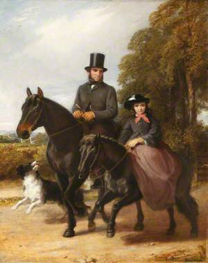 George Ward (1822–1887), and His Daughter Fanny (1850–1939) Riding