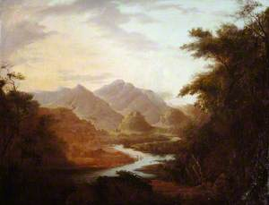 An Extensive Landscape of River Valley and Distant Mountains