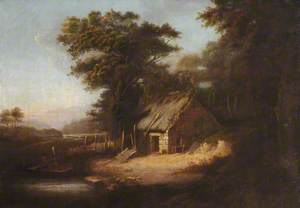 Thatched Hut by a River