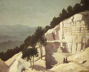 Mountainous Landscape with Rock-cut Dwellings
