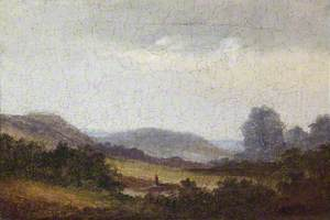 Figures in a Hilly Landscape