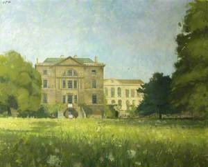 Worcester College: View of Lodgings from Garden