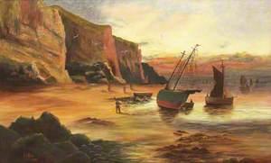 Boat in a Coastal Landscape