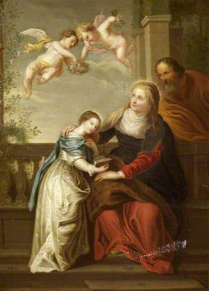 Anna and Joachim with the Virgin Mary