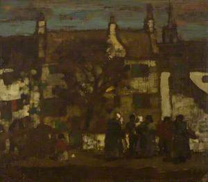 Evening at an Old Scotch Village