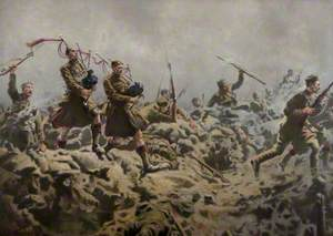 Rue De Bois, 1st Battalion The Black Watch, Battle of Richebourg, 9 May 1915