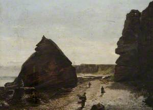At Spindle Rock, Auchmithie, Forfarshire
