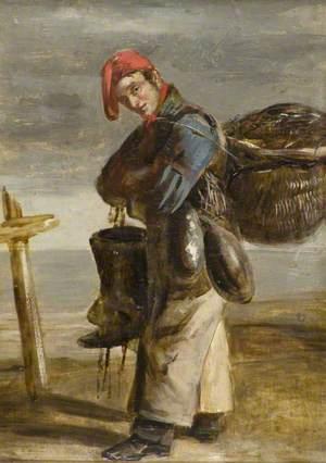 Forfarshire Fisherman Wearing Tackle